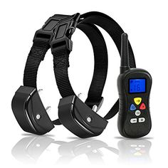 Deluxe Remote Pet Trainer Nylon Dog Collars 300m Modes Sound Vibration  Shock >>> Learn more by visiting the image link.
