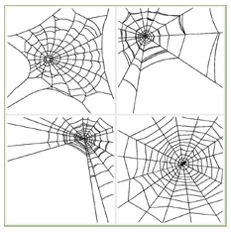 Free Embroidery Designs: Spider Webs - I Sew Free