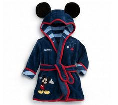 Disney Mickey Mouse Bath Robe for Baby - Personalizable