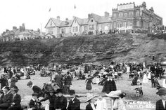 Enjoying The Sands at Whitley Bay in 1917