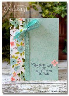 61 Ideas birthday card craft creative stampin up for 2019 Handmade Birthday Cards, Happy Birthday Cards, Greeting Cards Handmade, Birthday Box, Birthday Greetings, Birthday Bouquet, Flower Birthday Cards, Simple Birthday Cards, Teen Birthday