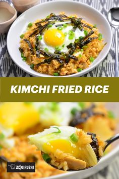 Kimchi is a Korean fermented dish that often uses red pepper powder, shrimp paste, and/or garlic for flavoring. Like a spicy and sour pickle, adding it to fried rice not only makes it flavorful but also vibrant in color! Veg Recipes, Side Recipes, Vegetarian Recipes, Dinner Recipes, Cooking Recipes, Healthy Recipes, Recipies, Kimchi Fried Rice, Shrimp Paste