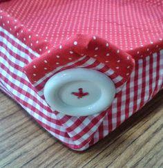 d'incanto: cestas de tecido em formato quadrado, tamanho médio