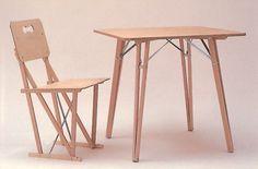 Michael Marriott XL1 Kit chair & table. Beech, birch plywood
