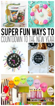 Creative ways to count down to the new year.  These are awesome ideas!