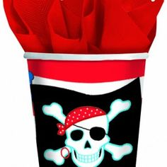 Pirate Party Cups #partysupplies