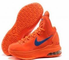 c2fe9b84d736 Sale Cheap Nike Zoom KD V 5 Creamsicle Orange Logo Blue Basketball Shoes  Sports Shoes Store