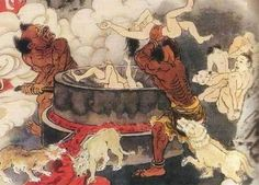 Diyu, the Traditional Chinese Hell, is an underground maze with various levels, where souls are taken after death to suffer punishment inflicted by demons.