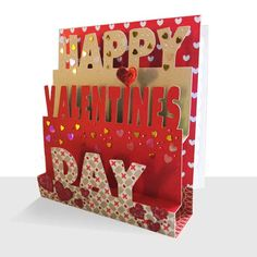 Luxury Pop Up Valentine Card Hearts Kisses Unique Greeting Cards Online Buy