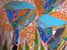 abstract mosaic flowers by kat gottke