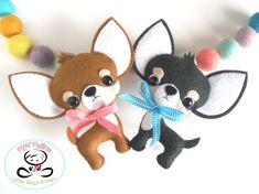 Sandy the Labrador puppy-PDF pattern-Cute lab dog-DIY Cute Chihuahua, Chihuahua Puppies, Chihuahuas, Dog Crafts, Felt Crafts, Cute Diy Projects, Sewing Projects, Pattern Cute, Felt Dogs