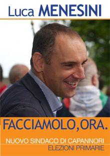 Locandina ufficiale elezioni primarie PD - nuovo sindaco di Capannori 2014