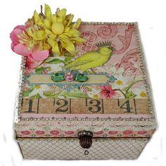 #Keepsake Box #Embellished Box #Trinket Box  by eclecticmoon $24.00