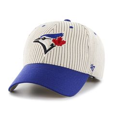 e98c41298971c0 Toronto Blue Jays Pinstripe Home Run Two Tone MVP Navy 47 Brand Adjustable  Hat. Detroit GameToronto ...