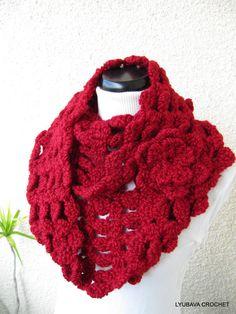 Crochet Cowl Pattern, Chunky Infinity Scarf Pattern, Unique Crochet Scarf Pattern PDF Instant Download Lyubava Crochet Pattern number 71