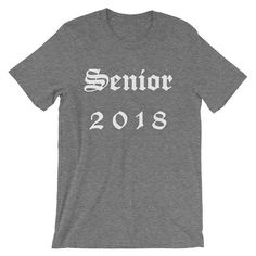Graduation Shirt Senior Shirts Class of 2018 2018 Graduation Senior 2018 Shirts Senior 2018 Graduation Tee Class of 2018 High School by 25VintagePlace