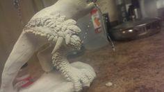 'Monster Hunter Rathalos' R2 Leg Sculpt Progress 2.