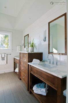 Toilet wood bathroom Cabinet pictures