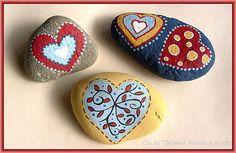 Love Hearts Painted Rocks | by Painted Rocks by Cindy Thomas