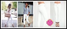 Oxford Jeans in White
