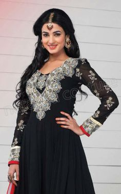 Sonal Chauhan Womens Exclusive Outfits Georgette Anarkalis 2014 3 Sonal Chauhan Womens Fancy Outfits Georgette Anarkalis 2014