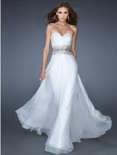 Trend A-line Sweetheart Beading Sleeveless Floor-Length Dresses