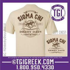 TGI Greek - Sigma Chi Alpha - Derby Days - Comfort Colors - Philanthropy - Greek T-shirts #tgigreek #sigmachi #derbydays