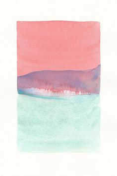 small original watercolor icy color form - Malissa