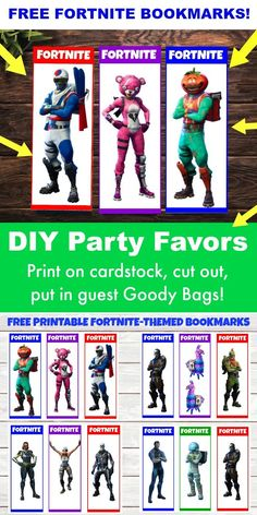 Need some FREE Fortnite Party Favors for your next Fortnite Birthday Party? Click here for these 12 Free Printable Fortnite Bookmarks! Use them as DIY Party Favors or use them to hand out to your kid's classmates! Fun, cool, Fortnite characters (Skins) for guys and girls! DIY party printables. Fortnite Birthday Party Ideas and Supplies. #fortnite #fortnitebr #forniteparty #birthdayparty #kidsbirthday #forkids #free #freeprintables #gamers #videogame #ps #fortnitememes #fortniteskins…