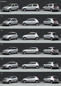 OG   2002 Mazda 2   Design proposals in scale clay models