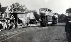 Southend (Catford) Tram Terminus on Bromley Road by The Green Man London Places, Green Man, East London, Old Houses, Homestead, England, Street View, History, Photos