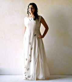 Woodland wedding dress boho wedding dress eco print by LoreTree