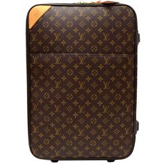 Louis Vuitton Pegase 50 Monogram Canvas Travel Rolling Luggage (24.452.855 IDR) ❤ liked on Polyvore featuring bags, luggage, accessories and travel