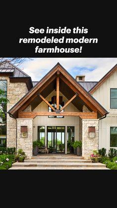 Farmhouse Architecture, Modern Farmhouse Exterior, Rustic Exterior, Modern Architecture, Mountain Home Exterior, Dream House Exterior, House Exteriors, Rustic Home Exteriors, Rustic Home Plans
