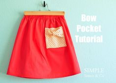 Bow Pocket Tutorial. - Simple Simon and Company