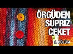 Örgüden Süpriz Ceket Yapımı - 34. Model (1/5) ● Örgü Modelleri - YouTube