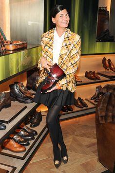 Benvenuto Berluti  - Giovanna Battaglia.  Cute outfit!