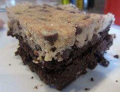 Paleo Cookie Dough Brownies