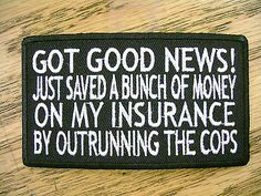 Got Good News Funny Sayings Vest Patch Motorcycle Biker Patch Club Patch