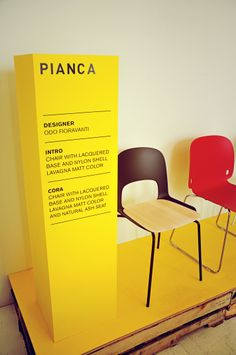 Cora and Intro chairs by Odo Fioravanti for Pianca