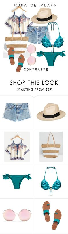 """Verano 2018"" by anapereira-v on Polyvore featuring moda, RE/DONE, Roxy, Pia Rossini, Matthew Williamson y Tory Burch"