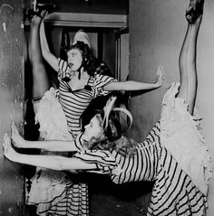stretching for french cancan at the lido (1950)