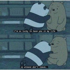 Ohh ☻ idk wether u are all fine with my persence wla this days 😂😂 but i am fine with yours ☻🌻 We Bare Bears Wallpapers, Panda Wallpapers, Cute Cartoon Wallpapers, Sad Wallpaper, Cute Disney Wallpaper, Wallpaper Quotes, Ice Bear We Bare Bears, We Bear, Cute Love Memes
