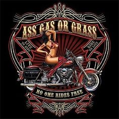 Vintage Motorcycles Classic Ass Gas Or Grass No One Rides Free Biker T Shirt Old School Pinstriping - Harley Davidson Knucklehead, Classic Harley Davidson, Used Harley Davidson, Harley Davidson Motorcycles, Vintage Motorcycles, Hd Motorcycles, Motorcycle Design, Motorcycle Style, Classic Motorcycle