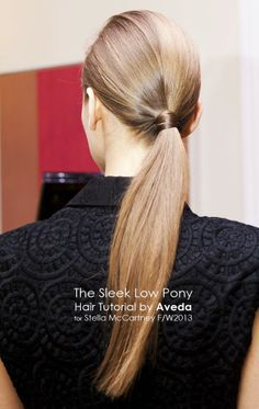 Hair Tutorial | The Chic Sleek Low Ponytail