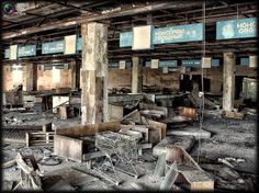 Views of current Chernobyl. A supermarket.