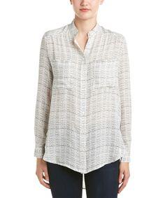 HAUTE HIPPIE Haute Hippie Shirred Silk Blouse'. #hautehippie #cloth #blouses