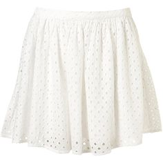 50s Flippy Cutwork Skirt ($20) ❤ liked on Polyvore featuring skirts, bottoms, faldas, saias, women, long cotton skirts, white cotton skirt, long skirts, flippy skirt and white skirt