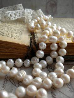 Vintage Book & Pearls
