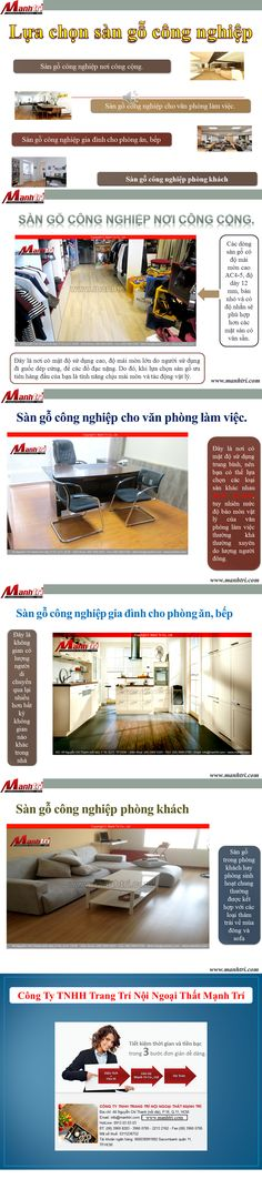 Sàn gỗ công nghiệp được rất nhiều nhà đầu tư lựa chọn để lót sàn ở những khu chung cư, đô thị, ngôi biệt thự và những căn nhà của các hộ gia đình có kinh tế khá giả.  http://manhtri.vn/lua-chon-san-go-cong-nghiep-31833.html